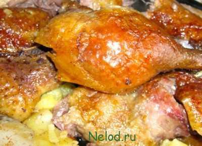 Рецепты гуся в духовке с картошкой, секреты