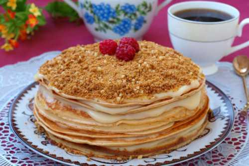 Рецепты блинного торта с заварным кремом, секреты