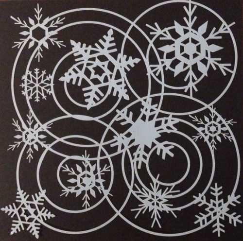 Снежинки из бумаги: трафареты и идеи фото