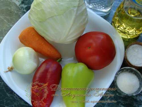 Выбери рецепт заготовки капусты с помидорами на