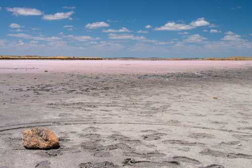 Розовое озеро Хиллер, Австралия
